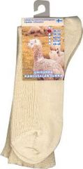 Alpakka unisukka luonnonvärinen 36-37 1 pari