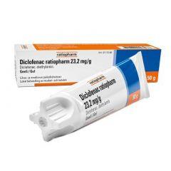 DICLOFENAC RATIOPHARM 23,2 mg/g geeli 50 g
